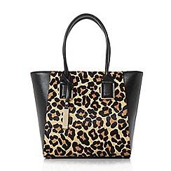 Dune - Multicoloured 'Damazinglep' leopard print winged shopped bag