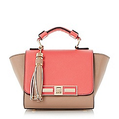 Dune - Pink small foldover winged handbag