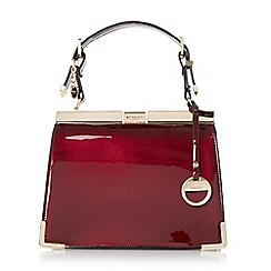 Dune - Berry 'Dinidanni' mini metallic structured frame bag