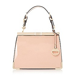 Dune - Nude 'Dinidanni' mini metallic structured frame bag