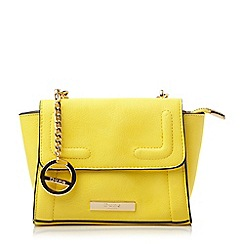 Dune - Yellow mini winged cross body bag
