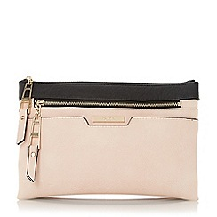 Dune - Black colour block multi compartment cross body bag