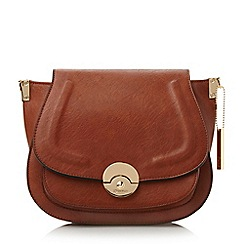 Dune - Tan-synthetic 'Delphine' winged saddle bag
