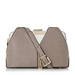 Dune - Grey 'Dawwn' colour block shoulder bag limited edition