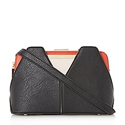 Dune - Black 'Dawwn' structured colour block shoulder bag