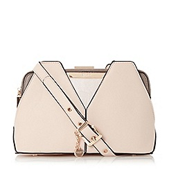 Dune - Natural 'Dawwn' colour block shoulder bag limited edition