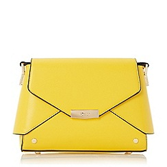 Dune - Yellow 'Darlla' fold over cross body bag