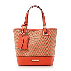 Dune - Red 'Dinidenisha' mini contrast base panel shopper bag
