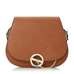 Dune - Tan 'Dessica' cross body saddle bag