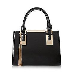Dune - Black 'Dinideedee' mini structured top handle handbag