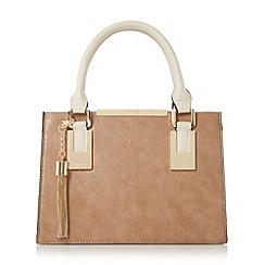 Dune - Taupe 'Dinideedee' mini structured top handle handbag