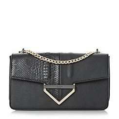Dune - Black 'Dabulous' curb chain shoulder bag