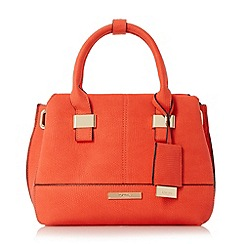 Dune - Red 'Dinidawsons' mini eyelet detail top handle bag