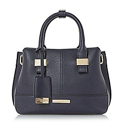 Dune - Navy 'Dinidawsons' mini eyelet detail top handle bag