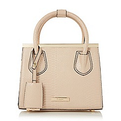 Dune - Natural 'Dinidependra' structured frame handbag