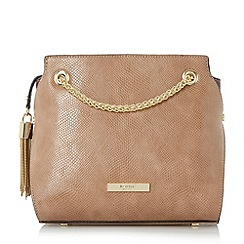 Dune - Taupe 'Dain' chain detail cross body bag