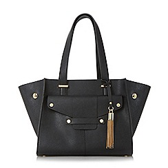 Dune - Black 'Dinidornan' mini winged shopper bag with removable pouch
