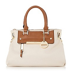 Dune - Cream 'Dinidanniella' mini slouchy top handle handbag