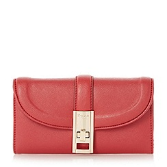 Dune - Red 'Kendraa' twist lock purse