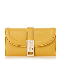 Dune - Dark yellow 'Kendraa' twist lock purse