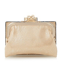 Dune - Gold 'Kelsey' mini frame coin purse