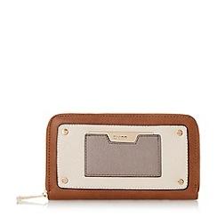 Dune - Tan 'Kannah' metal hardware zip around purse