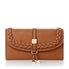 Dune - Tan 'Kaine' plait detail purse