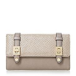 Dune - Grey 'Kailey' turn lock buckle strap purse