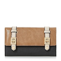 Dune - Taupe 'Kailey' turn lock buckle strap purse