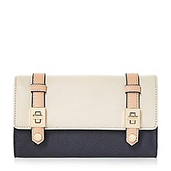 Dune - Navy 'Kailey' turn lock buckle strap purse