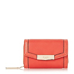 Dune - Orange 'Kaitlyn' small fold over purse