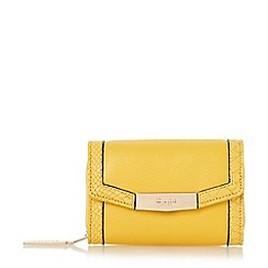 Dune - Yellow 'Kaitlyn' small fold over purse