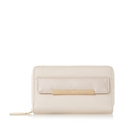 Dune - Cream 'Kamille' contrast front pocket zip around purse