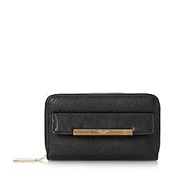 Dune - Black 'Kamillie' contrast front pocket zip around purse