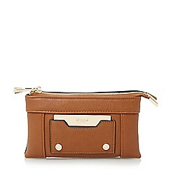 Dune - Tan 'Kathryn' double pouch purse