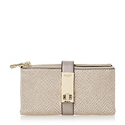 Dune - Grey 'Katniss' folded turnlock strap purse