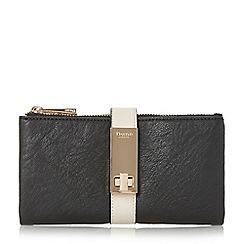 Dune - Black 'Katniss' folded turnlock strap purse