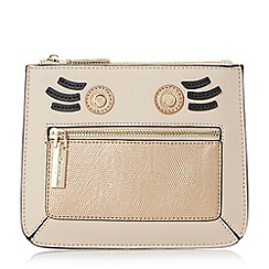 Dune - Taupe 'Kweeny' mini face coin purse