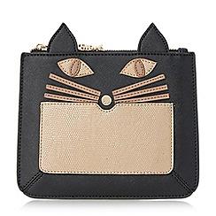 Dune - Black 'Kitty' cat face coin purse