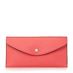 Dune - Bright pink 'Kandice' slim flap over purse