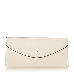 Dune - Natural 'Kandice' slim flap over purse