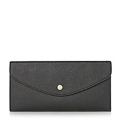 Dune - Black 'Kandice' slim flap over purse