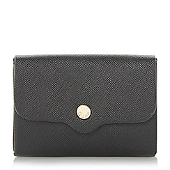Dune - Black 'Kimberley' mini envelope purse