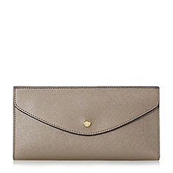 Dune - Silver 'Kandice' slim flap over purse