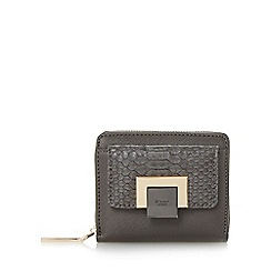Dune - Grey 'Klemence' contrast front zip around purse
