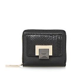Dune - Black 'Klemence' contrast front zip around purse