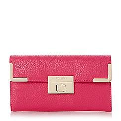 Dune - Pink turn lock and metal corner detail purse