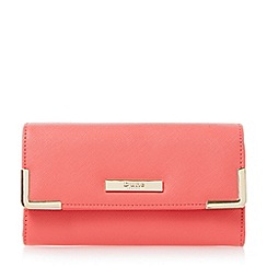 Dune - Pink-synthetic 'Karrie' metal corner detail purse
