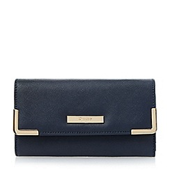 Dune - Blue metal corner detail purse
