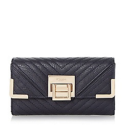Dune - Navy-synthetic 'Kourtney' quilted detail purse